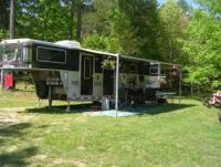 Campsites and stables with access to 200 miles of horse trail at Big South Fork, in Tennessee