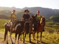 Altos del Durazno San Luis. Paradise lies high up on the hills and you get there on horse back.