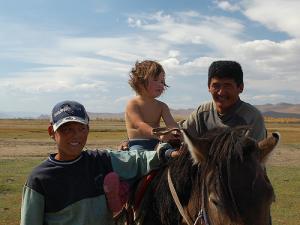 mongolian nomadic family