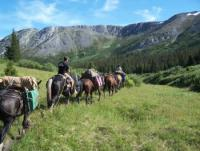 Indian River Ranch offers horseback trips into the spectacular mountains surrounding Atlin BC