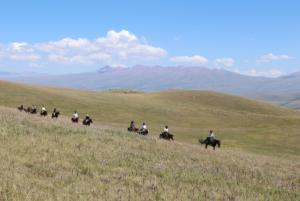 crossing Suusamyr valley 2300m above sea level