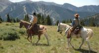 Horseback Riding atop the Rocky Mountains in the Taos Ski Valley, New Mexico, USA!