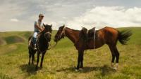 Horsetrekking to the Tien Shan mountains of Kyrgyzstan and Yurtsstay at our horse farm