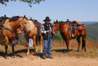 Glory Border Ride-Horseback Riding Vacations in the Boston Mountains, Chester Arkansas/Oklahoma line