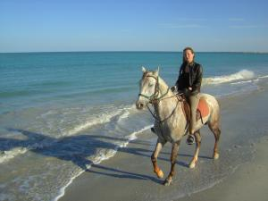 Long natural beaches for riding