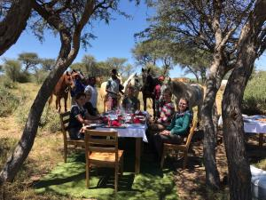 lunch in the Kalahari bush land